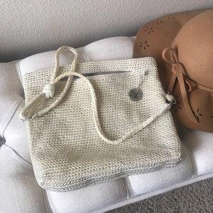 The Sak crochet knit bag